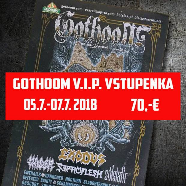 VIP vstupenka  GOTHOOM
